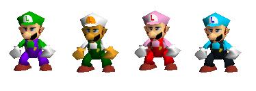 Paleta de colores Luigi SSB