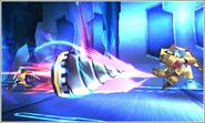 Pit usando el Brazal perforador Kid Icarus Uprising