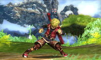 Agarre corriendo Shulk SSB4 (3DS)