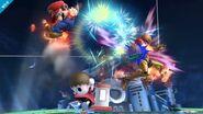Aldeano atacando (1) SSB4 (Wii U)