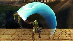 Ataque Smash hacia arriba Link SSBB (3)