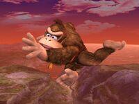 Ataque aéreo trasero Donkey Kong SSBB