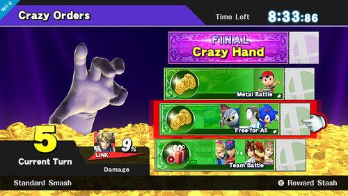 Crazy Orders (version americana) SSB4 (Wii U)
