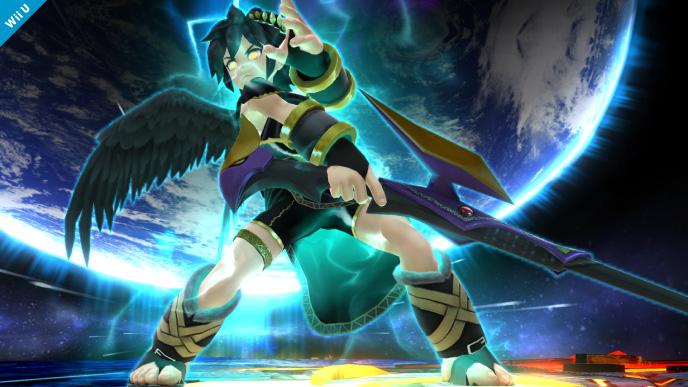 Pit Sombrio a punto de usar su Smash Final SSB4 (Wii U)