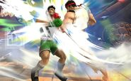 Ryu ataca a Little Mac SSB4 (Wii U)