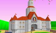 Castillo de Peach en Mario Kart 64