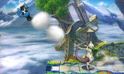 Lanzamiento hacia atrás Mewtwo (4) SSB4 (3DS)