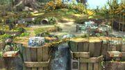 Vista general del Vergel de la Esperanza SSB4 (Wii U)