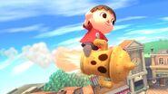 Aldeano sobre un giroide SSB4 (Wii U)