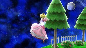 Ataque aéreo hacia abajo Peach SSB4 Wii U