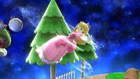 Ataque aéreo normal Peach SSB4 Wii U