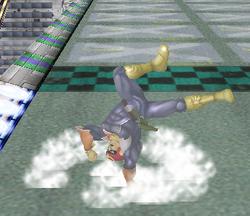 Ataque de recuperación de cara al suelo de Captain Falcon (2) SSBM
