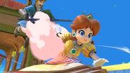 Daisy y Link en el Tren de los Dioses SSBU