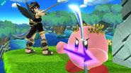 Kirby al haber copiado a Pit Sombrío SSB4 (Wii U)