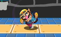 Ataque Smash hacia arriba de Wario (2) SSB4 (3DS)