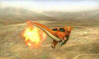 Ataque aereo hacia atras de Charizard SSB4 (3DS)