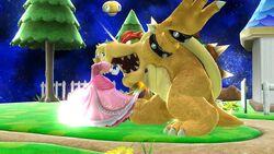 Golpiza Peach SSB4 Wii U