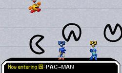 Pac-Man, Sonic y Mega Man en PictoChat 2 SSB4 (3DS) (1)