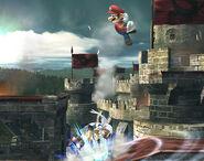 Smash meteórico Mario SSBB