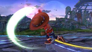 Ataque normal (1) Tirador Mii SSB4 Wii U