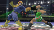 Captain Falcon y Little Mac en el Cuadrilátero SSB4 (Wii U)