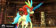 Keldeo en la Pirosfera SSB4 (Wii U)
