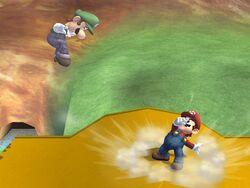 Lanzamiento hacia atrás (2) Mario SSBB
