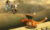 Lanzamiento hacia atras de Charizard (3) SSB4 (3DS)
