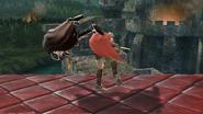 Lanzamiento trasero de Ike (1) SSB4 (Wii U)