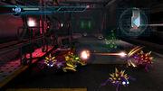 Samus atacando a varios Limer en Metroid Other M