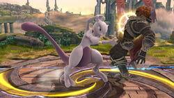 Lanzamiento hacia atrás Mewtwo (1) SSB4 (Wii U)