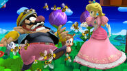 Peach y Wario en Zona Windy Hill SSB4 (Wii U)