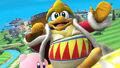 Rey Dedede y Kirby en la Isla de Pilotwings SSB4 (Wii U)
