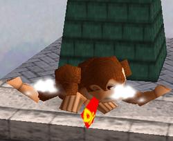 Ataque Smash hacia abajo de Donkey Kong SSB