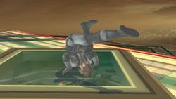 Ataque de recuperacion en el suelo boca arriba-Snake SSBB