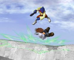 Lanzamiento hacia abajo de Falco (2) SSBM