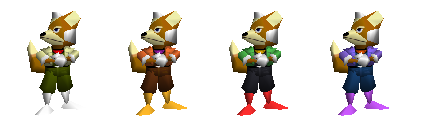 Paleta de colores Fox SSB