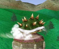 Ataque Smash hacia abajo de Bowser SSBM