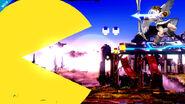 Pac-Man usando su Smash Final en el Campo de Batalla SSB4 (Wii U)