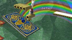Plataforma oscilante de Rainbow Ride SSBB