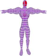 Pose T Fighting Wire Frame Male (SSBM)