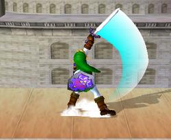 Ataque Smash hacia arriba de Link (1) SSBM