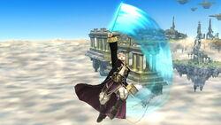 Ataque aéreo hacia arriba (2) Robin SSB4 (Wii U)
