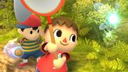 Créditos Modo Senda del guerrero Aldeano SSB4 (Wii U)