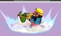 Lanzamiento hacia atrás de Wario (1) SSB4 (3DS)