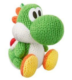 Amiibo Yoshi de lana verde (serie Yoshi's Woolly World)