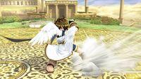 Ataque de recuperación boca abajo (2) Pit SSB4 Wii U