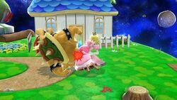 Lanzamiento hacia atrás Peach SSB4 Wii U