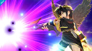 Pit Sombrío usando su Smash Final SSB4 (Wii U)