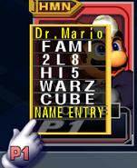 Selección de nombres Super Smash Bros. Melee